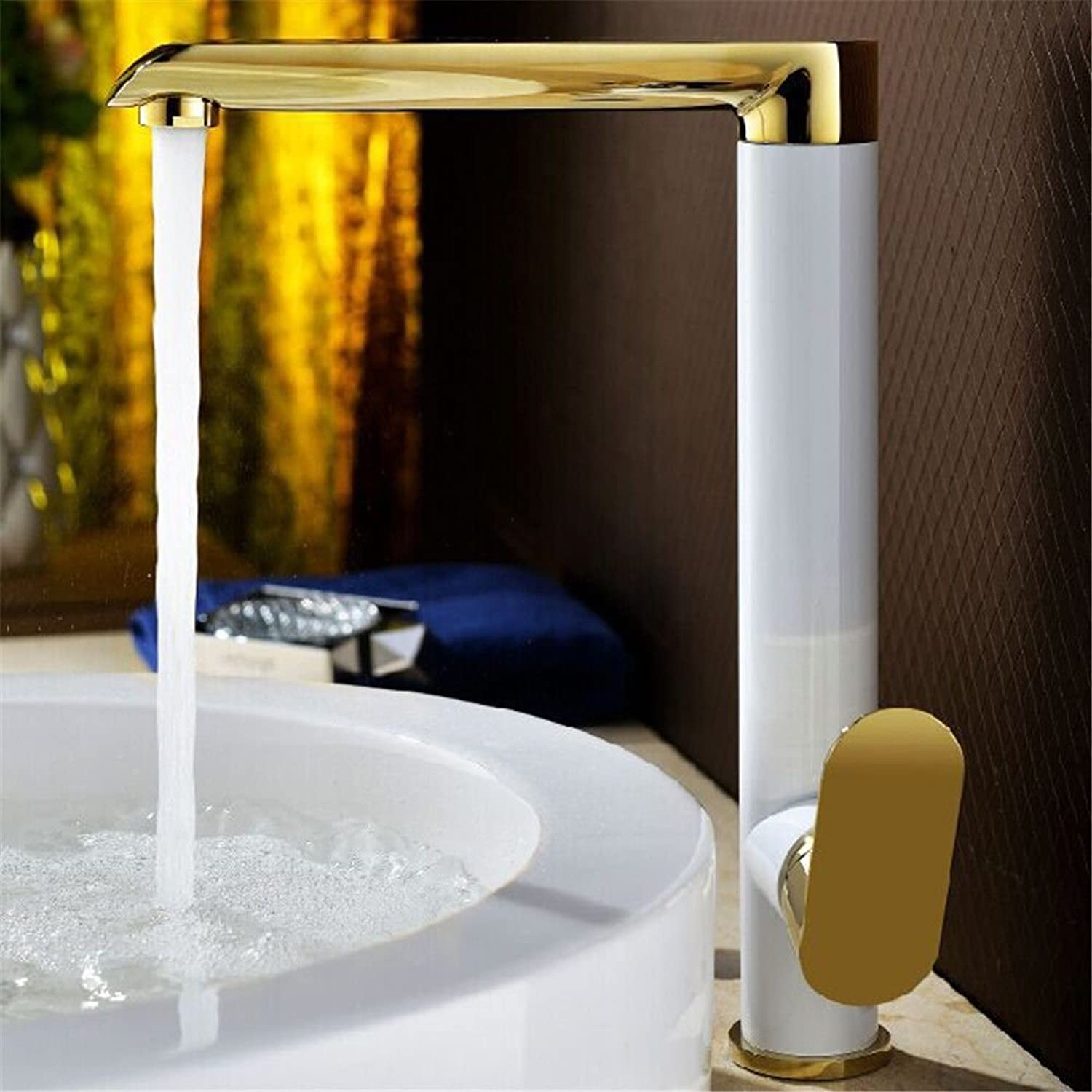 NewBorn Faucet Kitchen Or Bathroom Sink Mixer Tap Single Handle Water Tap Full Copper Mixing Valve Water Wash Dish Tub Water Tap 360° redatable B