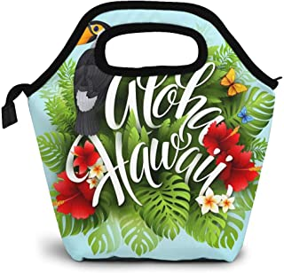 Aloha Hawaii Lunch Bag Insulated Lunch Box Cooler Tote Handbag Food Container Gourmet Tote Warm Pouch For School Work Office