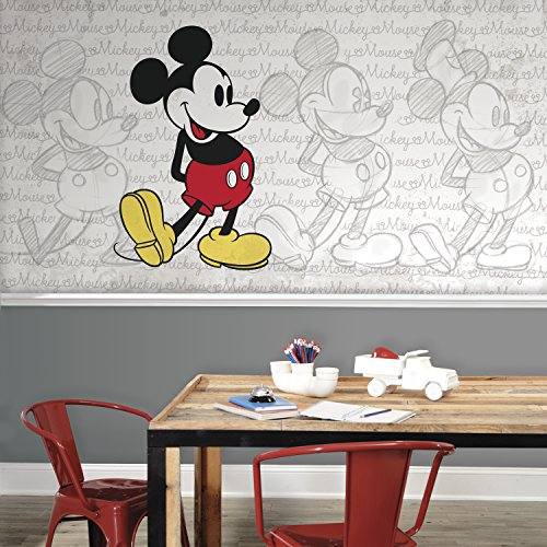 RoomMates Mickey Mouse - Classic Mickey Removable Wall Mural - 10.5 feet X 6 feet