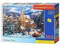 Castorland - B-030194 - Puzzle - Faire de la luge dans la ville - 300 Pièces