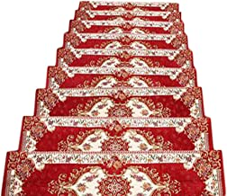 JIAJUAN Stair Carpet Treads Rectangle Non-Slip Self-Adhesive Floor Protector Stairs Tread Large Pads, 5 Styles, 2 Sizes, C...