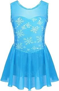 Agoky Vestido de Danza Ballet para Niña Maillot de Patinaje Artístico Gimnasia Rítmica con Falda Traje Patinadora Bailarina Disfraz Princesa Nieve
