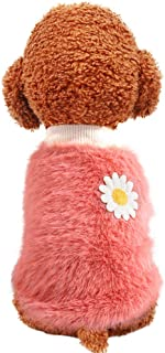 blackhorse Sweater for Cats Small Dogs Girl Daisy Style, Plush Round Neck Cat Clothes Pullover Soft Warm, Pet Winter Cloth...