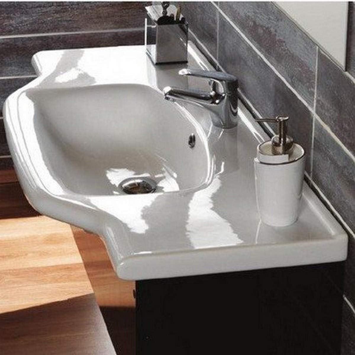 Buy Cerastyle 081200 U One Hole Yeni Klasik Rectangular Ceramic Wall Mounted Self Rimming Bathroom Sink White Online In Hong Kong B00iynqjqy