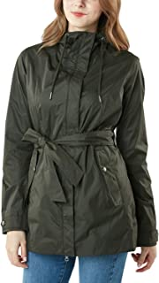 TSLA Women's Waterproof Rain Jackets, Lightweight Breathable Raincoat with Hood, Outdoor Hiking Windbreaker