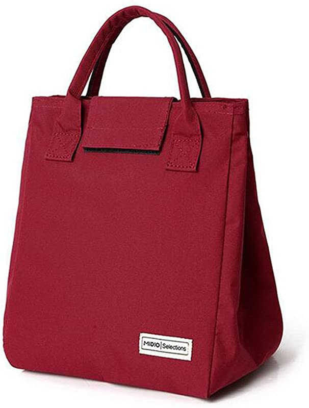 Tote Bento Lunch Bag Insulated Lunch Cooler For Kids Girls Women Stylish Waterproof Wine Red