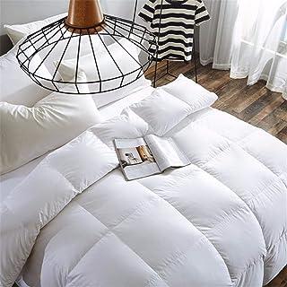 WanJiaMen'Shop 100% Pato Blanco/Ganso Funda nórdica edredón Manta de algodón Relleno de algodón tamaño Doble Colcha Queen, 180x220cm 3 kg