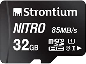 Strontium Nitro 32GB Micro SDHC Memory Card 85MB/s UHS-I U1 Class 10 High Speed for Smartphones Tablets Drones Action Cams...