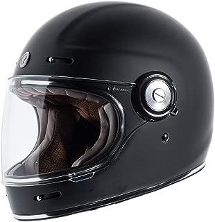 TORC T1 Retro Unisex-Adult Full-Face-Helmet-Style Motorcycle Helmet (Matte Black,Medium), 1 Pack