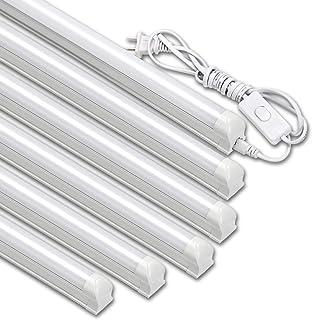 LED蛍光灯 40W形 T8 器具一体型LED蛍光灯 18W 昼白色 120cm バーライト スイッチ付き【6本入り】