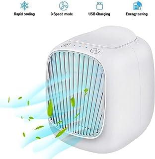STZYY Aire Acondicionado portátil de 3 velocidades USB Air Cooler con Tanque de Agua de 160 ml para Interior, hogar, Oficina, Dormitorio