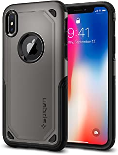 Spigen Hybrid Armor iPhone X Case with Air Cushion Technology and Secure Grip Drop Protection for Apple iPhone X (2017) gr...