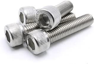 1/4-20 Hex Socket Head Cap Screws,304 Stainless Steel,Knuled Head,20 Pieces (1/4