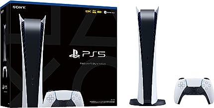 کنسول بازی 825 گیگابایتی نسخه دیجیتال سونی پلی استیشن 5 + 1 داک شارژر دوگانه بی سیم برای کنترلر PS5، تلویزیون 4K، تا 120 فریم بر ثانیه 8 هسته ای x86-64-AMD پردازنده Ryzen Zen 2، 8K