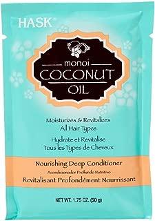 Hask Monoi Coconut Oil Nourishing Deep Conditioner 1.75 oz (Pack of 6)
