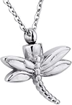 KY Urn Necklaces for Ashes for Women Memorial Charms Pendant Stainless Steel Keepsake Cremation Jewelry