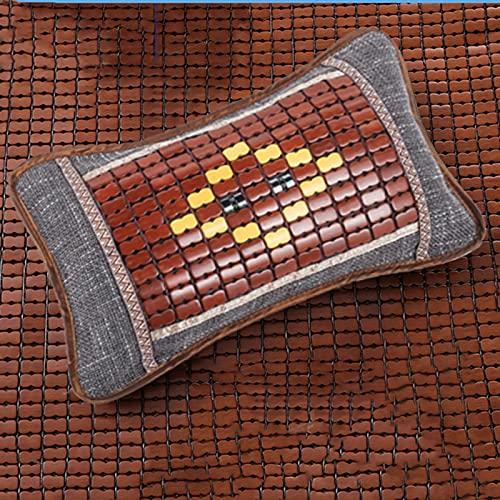 HUANGDAN Sommer Cooles Kissen Tee Kissen Kern EIS Seide Cooles Bambus Kissen Cooles Mahjong Altes Rattan Bambus Matte Kissen Sommer Kissen für tieferen Schlaf,B