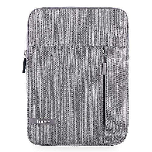 Lacdo Tablet Sleeve Case for 10.9 inch New ipad Air 4 | 10.2-inch New iPad 2019-2020 | 11 inch New iPad Pro | 10.5 inch iPad Pro | iPad Air 3 2 | iPad 6 5 4 3 2 | Galaxy Tab 10.1 Protective Bag, Gray