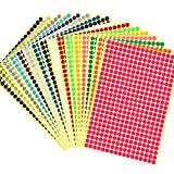 6528 pcs 1/4' Small Color Coding Circle Dot Stickers Round Coding Dot Labels,16 Colors