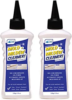 Skylarlife Home Mold & Mildew Remover Gel Stain Remover Cleaner Wall Mold Cleaner for Tiles Grout Sealant Bath Sinks Showers (2-pack)