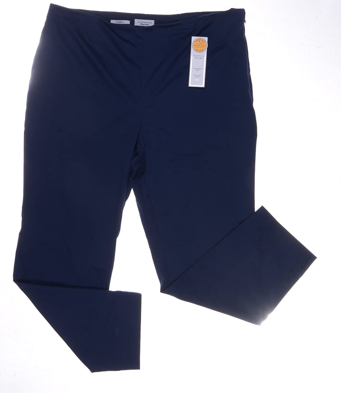 Charter Club Sateen Sidezip Ankle Pants Intrepid bluee Size 4