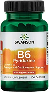 Sponsored Ad - Swanson Vitamin B-6 (Pyridoxine) 100 Milligrams 100 Capsules