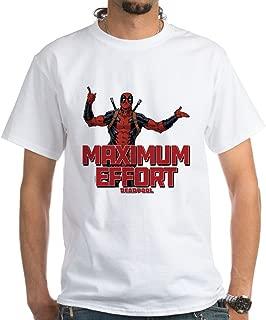 Deadpool Maximum Effort 100% Cotton T-Shirt, White