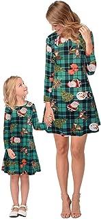 NORA TWIPS Christmas Dress Womens Santa Claus Printed Gifts Xmas Dress