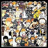 WEIGUANG Anime japonés Haikyuu !!Pegatina de Graffiti, Pegatinas de Voleibol para jóvenes para calcomanía en Maleta de Guitarra, Nevera portátil, 52 unids/Set