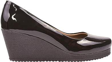Sapato Feminino Scarpin Anabela Salto Médio Eleganteria