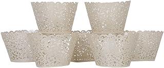 Andux 120 petits Vigne Filigrane dentelle découpé au Laser Cupcake Wrapper Premium Moule à muffins pour fête d'anniversair...