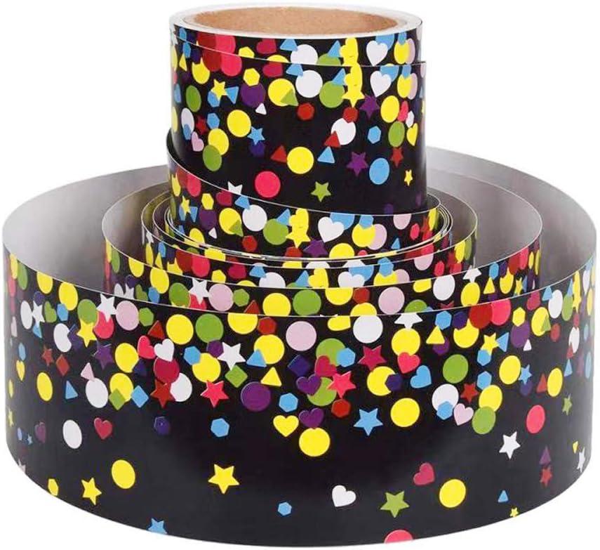 Wide Store Black Confetti Straight Border Trim Classroom Direct sale of manufacturer Bulletin for