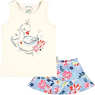 Conjunto Natural Bebê Menina Cotton 36611-68