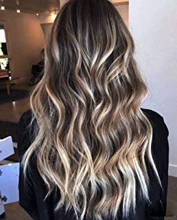 Full Shine Halo Remy Human Hair Color 1B Off Black Fading To 8 And 22 Blonde Halo Crown Hair Extensions Real Remy Hair 12 ...