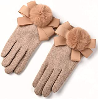 WUXiaodanDan Women's gloves touch screen warm gloves plus velvet thick gloves cycling driving gloves