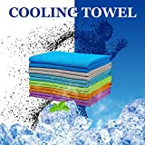 LUVNFUN 6 Pack Cooling Towels for Neck (40x12Inch) - Cool Neck Warps for Summer Heat - Cold Chilly Cloth for Instant Relief- Ice Towel Ideal for Sports,Running,Gym Workout,Fitness,Yoga - UPF 50