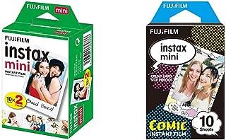 Fujifilm Instax Mini Picture Format Film (20 Shots) and Fujifilm Instax Mini Comic Film (Multicolor, Pack of 10)
