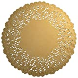 Worlds 30 Pack Round Gold Metallic Foil paper...