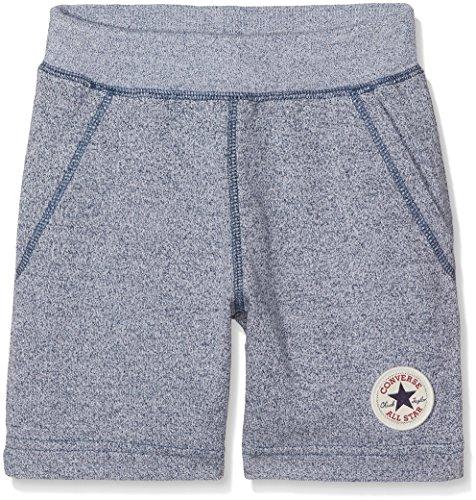 Converse Jungen Core French Terry Ctp Shorts, Mehrfarbig (Marineblau/Weiß meliert), 8-10 Jahre