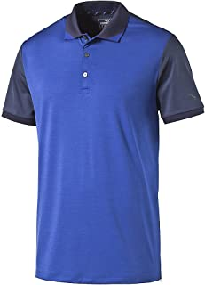 PUMA Golf Men's Short Sleeve Tailored Rib Polo