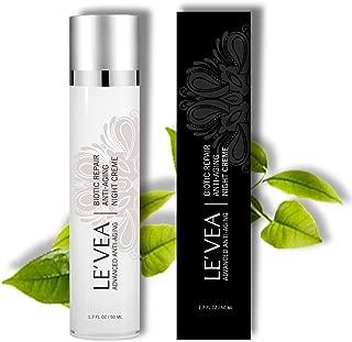 LE'VEA Wrinkle Repair Cream Fast Wrinkle Reduce Age Defying Anti-Aging Night Cream Professional Formula Rejuvenate Hydrating Moisturizer With Vitamin C E B5 Green Tea -1.7 oz