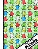DAILY LIST PLANNER: 'Sitting Smiling Multi-Colour Frogs' Pattern Novelty Task Gift - Frog Daily List Planner for Children, School, Girls, Boys