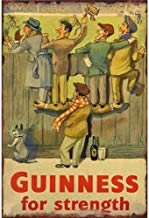 Guinness For Strength Póster De Pared Metal Retro Placa Cartel Cartel De Chapa Vintage Placas Decorativas Poster por Café Bar Garaje Salón Dormitorio