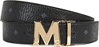 MCM Men's Gold M Buckle Reversible Belt
