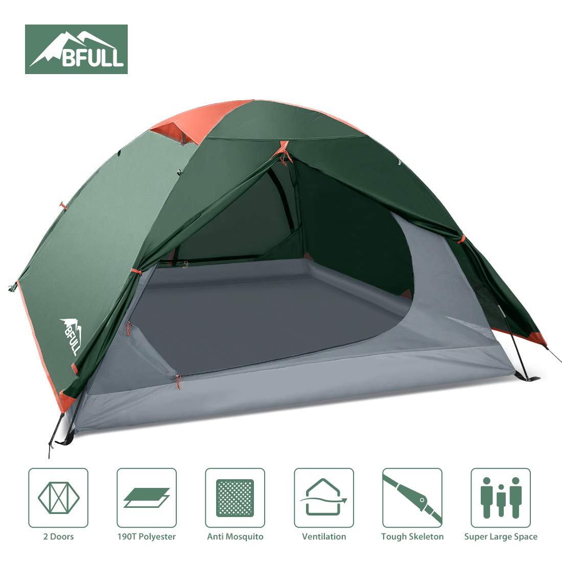 BFULL Camping Tents 2 3 Person Lightweight Backpacking Tents