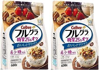 カルビー フルグラ糖質25%オフ 600g × 2袋 (2袋【お買い得セット】)