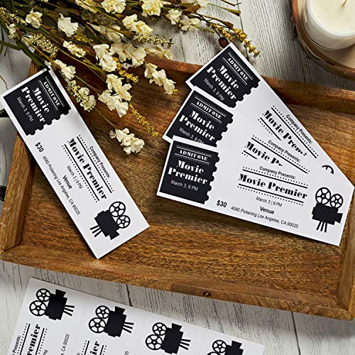 Avery Printable Tickets, 2.75' x 8.5', Laser/Inkjet, 100 Tickets, Great for Raffle Tickets (16430), White, 4 Tickets per Sheet