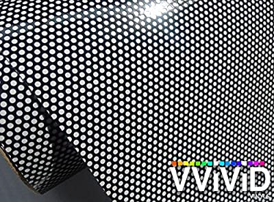 VViViD® One-Way Perforated Black Vinyl Privacy Window Film Adhesive Glass Wrap Roll