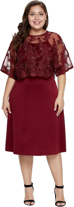Silk Road Original Women PlusSize KneeLength Mob Dress with Shawl