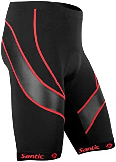 Santic Men's Cycling Shorts Biking Bicycle Bike Pants Half Pants 3D Coolmax Padded Bike Shorts